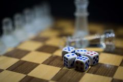 A set of 5 Dices royalty free stock photography