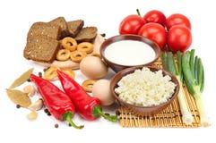 Set dietätische Lebensmittel Stockbilder