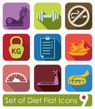 Set of diet icons Stock Photos
