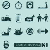 Set of diet icons Royalty Free Stock Images