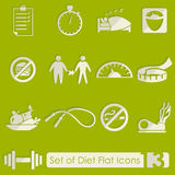 Set of diet icons Stock Images