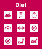 Set of diet simple icons Stock Image