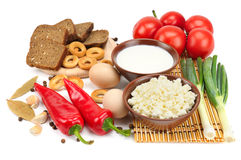 Set of dietary food Stock Images
