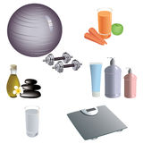 Set of dietary and healthy lifestyle icons.  Stock Photography