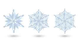 Set of diferent paper snowfakes. Stock Photography