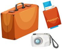 Set diferent travel objects Royalty Free Stock Photography