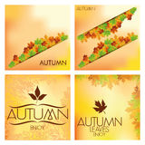 Set Of Different Abstract Autumn Backgrounds. Vector Set Of Different Abstract Autumn Backgrounds Stock Photo