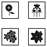 Set Of Different Abstract Flower Illustrations. Vector Set Of Different Abstract Flower Illustrations Stock Photography