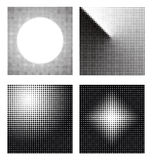 Set of different abstract halftone Stock Photo