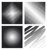 Set of different abstract halftone Royalty Free Stock Photography