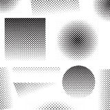Set of different abstract halftone art elements Stock Photo