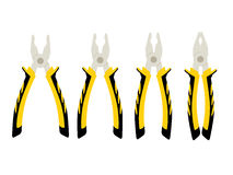 Set of different action of pliers royalty free stock photo