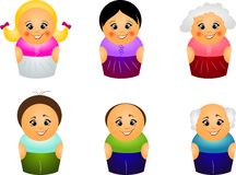 Set of different ages Stock Image