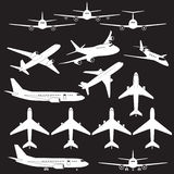 Set of different airplane signs Stock Photography