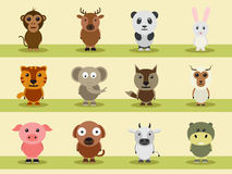 Set of different animal cartoon characters. Royalty Free Stock Photos