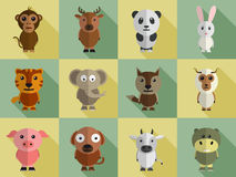 Set of different animal characters. Stock Photography