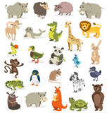 Set of different animals on a white background. vector illustrat Royalty Free Stock Images