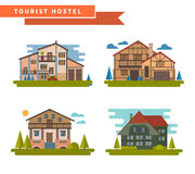 Set of different apartments Royalty Free Stock Photo
