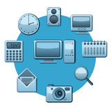 Applications icons Stock Image