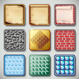 Set of different apps icons vector Royalty Free Stock Image