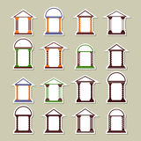 Set of different arches. Stickers Stock Photo