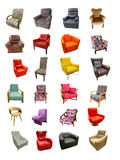 Set of different armchairs Royalty Free Stock Photos
