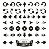 Set of different arrow icons Royalty Free Stock Image