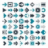 Set of different arrows and cursors. Vector. Stock Image