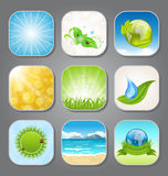 Set different backgrounds for the app icons Royalty Free Stock Photos