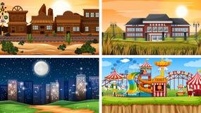 Set of different backgrounds. Illustration royalty free illustration