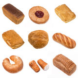 Set of a different bakery products Royalty Free Stock Photo