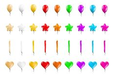 Set of different balloons Royalty Free Stock Image