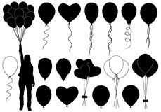 Set of different balloons Royalty Free Stock Images