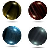 Set of different balls with mapped texture and shadow 1. Set of different balls with mapped texture and shadow set 1 Royalty Free Stock Photo