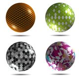 Set of different balls with mapped texture and shadow 8. Set of different balls with mapped texture and shadows 8 Royalty Free Stock Images