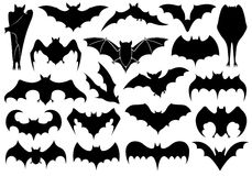 Set of different bats Stock Image