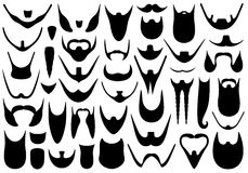 Set of different beards. Isolated on white Stock Image