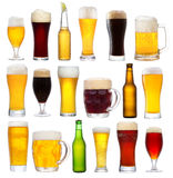 Set with different beer Royalty Free Stock Photos