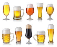 Set of different beer Royalty Free Stock Photography
