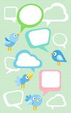 Set of different birds Stock Photography