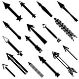 Set of different black arrows. Stock Image