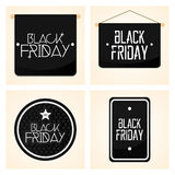 Set Different Black Friday Stickers Isolated Stock Photography