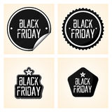 Set Different Black Friday Stickers Isolated Royalty Free Stock Photo