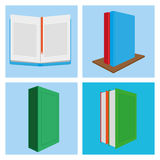 Set Of Different Book Illustrations Isolated Stock Photography