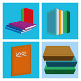 Set Of Different Book Illustrations Isolated Royalty Free Stock Photo