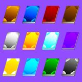 Set of Different Books isolated on violet background for Your Design, Game, Card. Isolated GUI design elements. Vector. Set of Different Books isolated on stock illustration