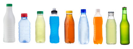 Set with different bottles Royalty Free Stock Photography
