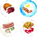 Set of different breakfast Stock Image