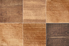 Set of different brown wooden texture, cutting boards Royalty Free Stock Image