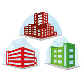 Set Of Different Building Icons Isolated Royalty Free Stock Photography